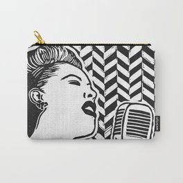 Lady Day (Billie Holiday block print blk) Carry-All Pouch
