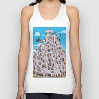 climbing Tank Tops featuring Bubble climbing by Caiocomix