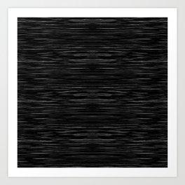 Meteor Stripes - Deep Black Art Print