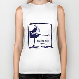 TALK TO THE HOOF Funny Horse Pony Pink Vest Top Strap Horse Biker Tank