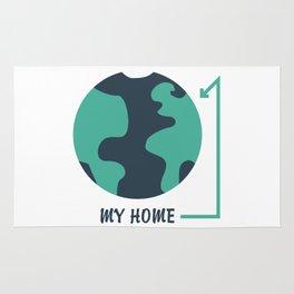 Earth is My Home #society6 #decor #buyart #artprint Rug