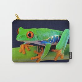 TREE FROG ON BAMBOO Carry-All Pouch