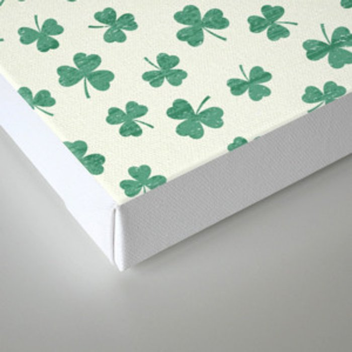 DANCING SHAMROCKS on cream Canvas Print
