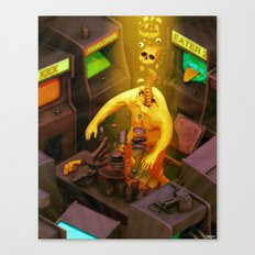 Abduction of the Arcade Fiend Canvas Print
