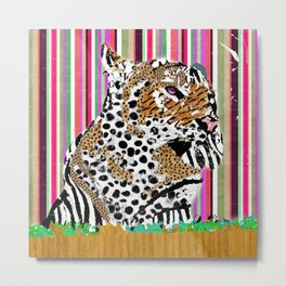 Tiger & His Technicolour Coat Metal Print