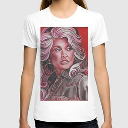 Dolly Parton in Pink T-shirt