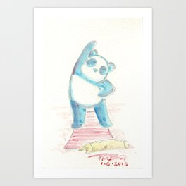PiYo Panda Art Print