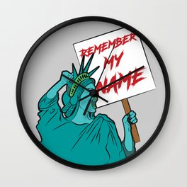 Remember My Name Wall Clock