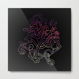 Viking Dragon Metal Print