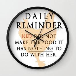 Red didn't make the food-OITNB Wall Clock