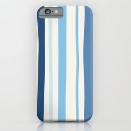 Abstract Striped Blue Art Print iPhone Case