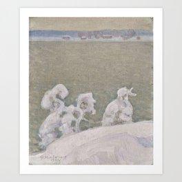 PEKKA HALONEN, FROM LAKE TUUSULA. Art Print