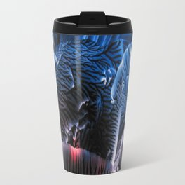 Abstract Midnight Blue Red Travel Mug