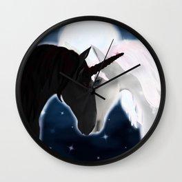 Unicorn love Wall Clock