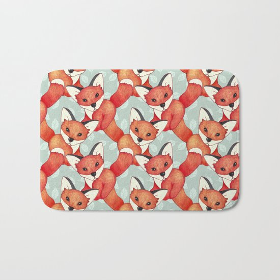 Fox Lattice  Bath Mat