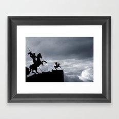 Warriors of time Framed Art Print