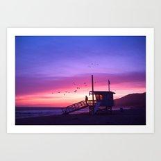 Sunset Tower Art Print