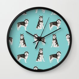 Alaskan malamute  dog breed pet lover malamute gifts Wall Clock