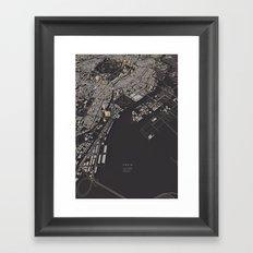 Tokyo city map Framed Art Print