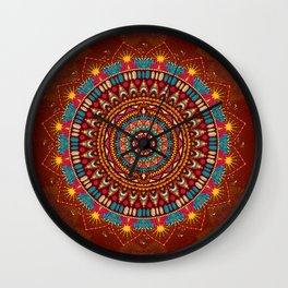 Crystalline Harmonics - Tribal Wall Clock
