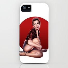 CALENDAR GIRL iPhone Case