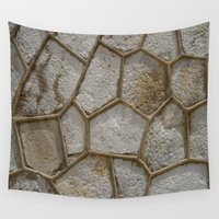 honeycomb Wall Tapestries featuring Honeycomb Abstract by Fine Art by Rina