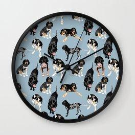 Bluetick Coonhounds Wall Clock