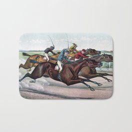 Horse racing Bath Mat