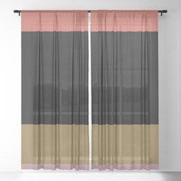 Contemporary Color Block IV Sheer Curtain