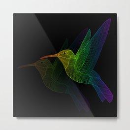 Rainbow Hummingbird Metal Print