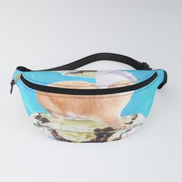 Chef Bunny Rabbit On Sundae In Space Fanny Pack