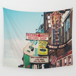 Lower Broadway, Nashville print  Wall Tapestry