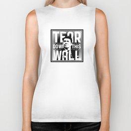 Ronald Regan : Tear Down This Wall Biker Tank