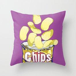 Potato Chips : Junkies Collection Throw Pillow