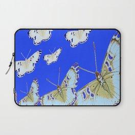 PATTERN OF BLUE & WHITE BUTTERFLIES MODERN ART Laptop Sleeve