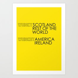 Whisky or Whiskey? Art Print