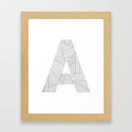 A strings Framed Art Print