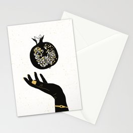 Golden Persephone print Stationery Cards