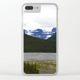 Stutfield Glacier along the Icefields Parkway  in Jasper National Park, Canada Clear iPhone Case