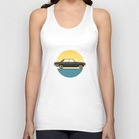 mercedes Tank Tops featuring Mercedes 200 at Sunset by chucklehound