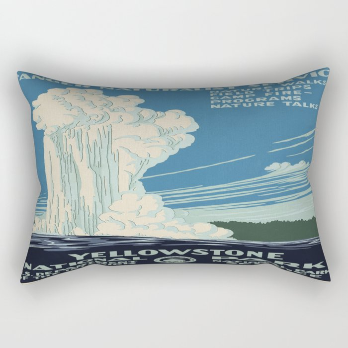 Vintage poster - Yellowstone Rectangular Pillow