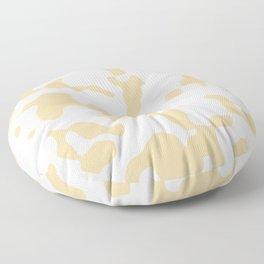 Large Spots - White and Sunset Orange Floor Pillow