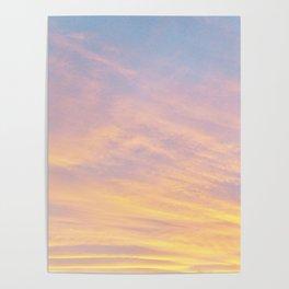 Blue Rose Yellow Sunrise Poster