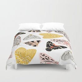 Moth's Diverse Beauty Pattern Duvet Cover