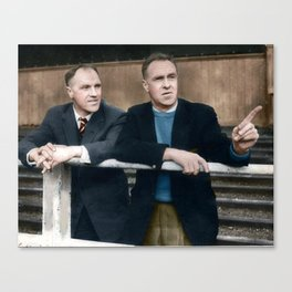 Bill and Bob Shankly in colour Canvas Print