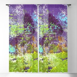 Heron Abstract Painting Blackout Curtain