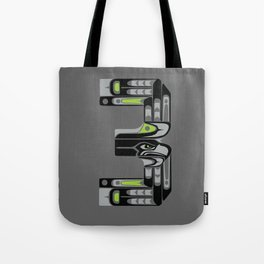 Seattle 3 - Black Tote Bag