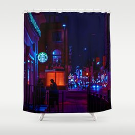 less morose and more present Shower Curtain