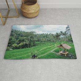Ricefield in Ubud, Bali Rug