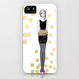Golden Feathers iPhone Case